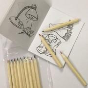 quaderno da colorare + matite - kadosa