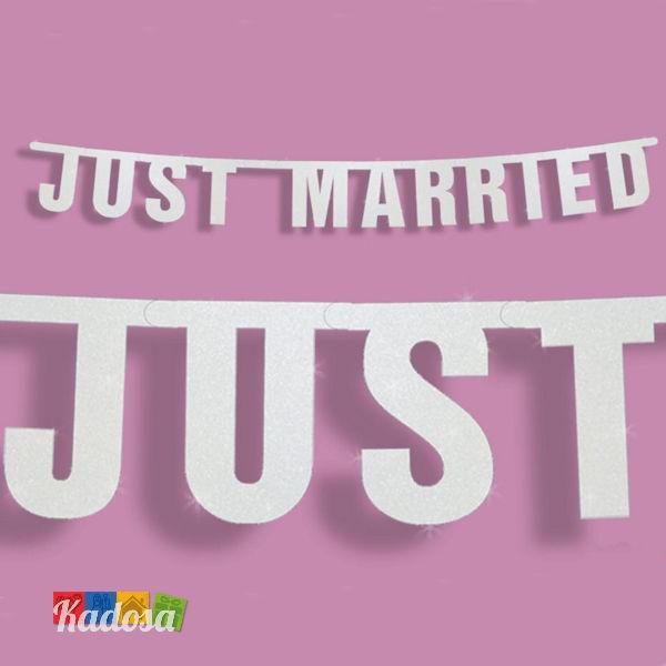 2f37429aa8aa Cartello matrimonio JUST MARRIED oppure OGGI SPOSI Prodotti Handmade