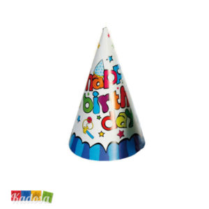 Set Cappelli Cono Happy Birthday Blu- Kadosa
