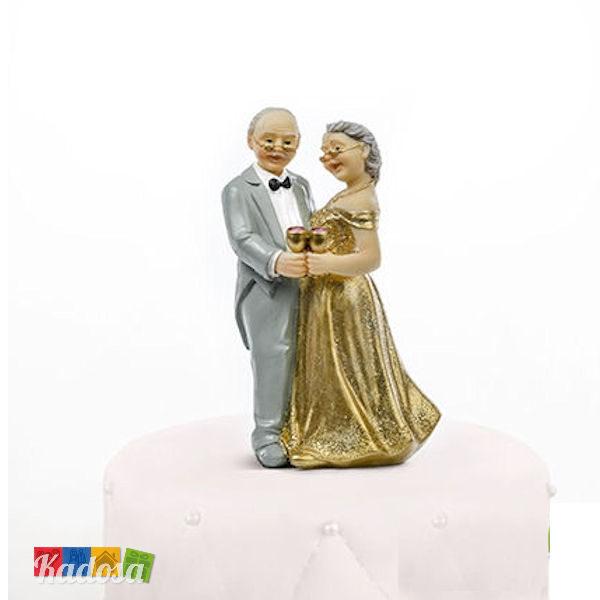 Topper Nozze D Oro 50 Anni Di Matrimonio In Poliresina Kadosa