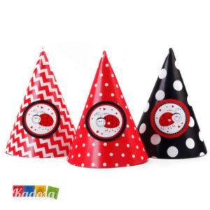 Cappellini Cono Coccinella Ideali x Compleanni Set 6 pz - Kadosa