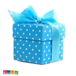 Scatoline Box Porta Confetti Azzurri Pois - Kadosa