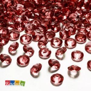 Diamanti Decorativi da 12 mm di Colore ROSSO Set 100 pz - Kadosa