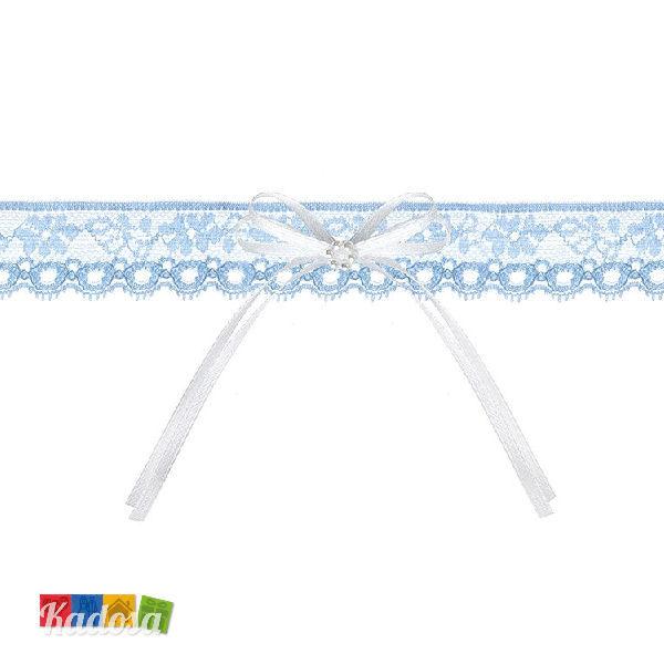 Giarrettiera Pizzo Blu con Fiocco - Kadosa