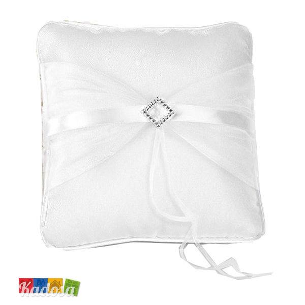 Cuscino Portafedi Bianco E Blu.Cuscino Porta Fedi Decorazione Diamond