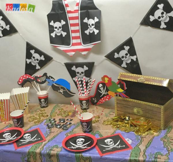 Set Party PIRATI top - Festa in scatola - Kadosa