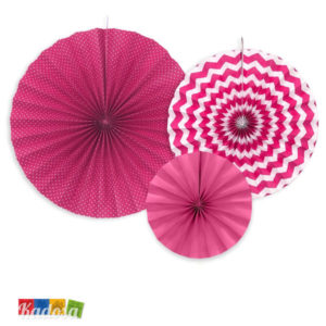 Rosette Decorative Fucsia Set 3 pz - Kadosa