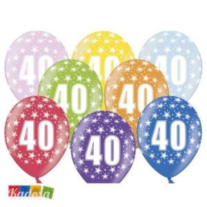 Palloncini 40 anni Multicolor - Kadosa