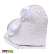 Scatole porta confetti Cuore Bianco - Kadosa