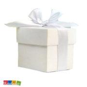 Scatole porta confetti bianche con nastro bianco - Kadosa