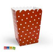 Box Porta Pop Corn Coccinella Rossi e Neri Set 6 pz - Kadosa