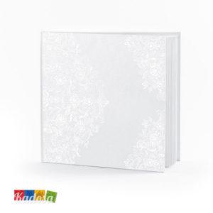 Guest Book Matrimonio Bianco Decorazione Floreale Perla - Kadosa