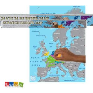 Cartina da Grattare EUROPA - Kadosa
