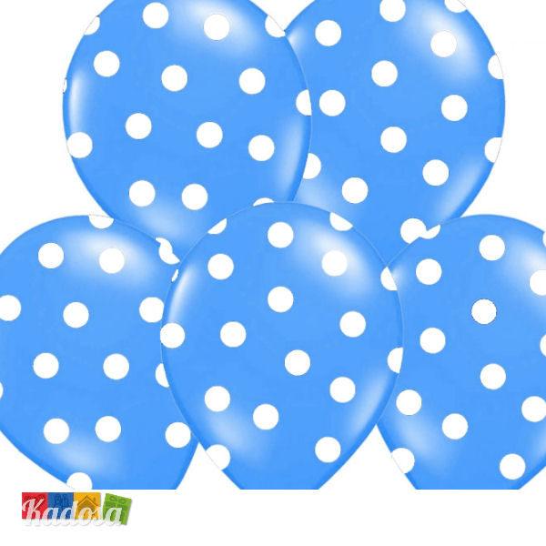 Palloncini Blu pois Bianchi