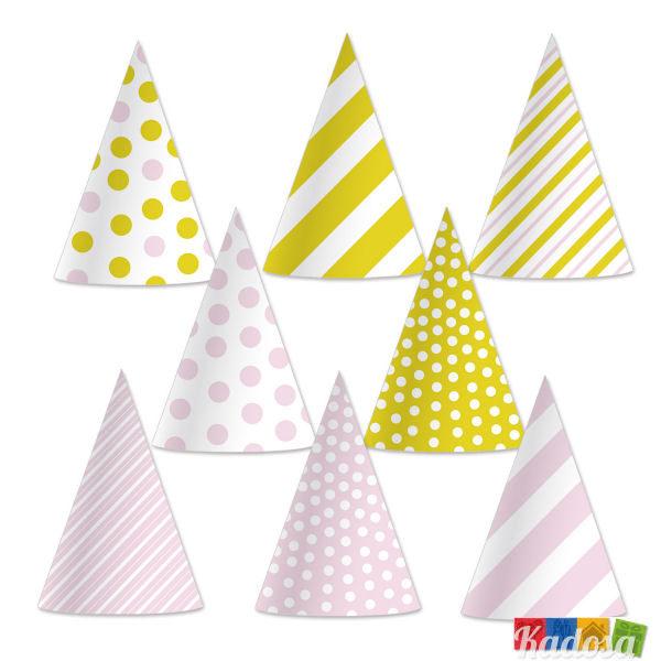 Cappelli Cono Oro e Rosa (Set party Principessa) - Kadosa 14c30397fb26