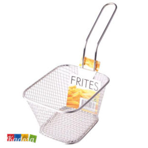 Mini Cestino Porta Patatine Fritte in Metallo Pratico ed Elegante - Kadosa