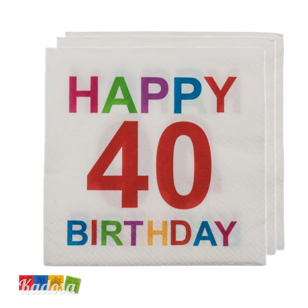 Top 40 Anni Happy Birthday Colorati e Divertenti - Kadosa PQ46