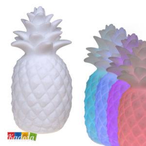Luce da Tavolo Ananas Bianco con Led Multicolr a Rotazione Continua - Kadosa