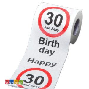 Carta Igienica 30 AND SEXY Buon Compleanno - kadosa