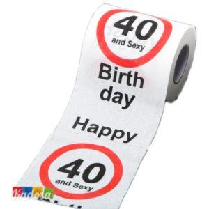 Carta Igienica 40 AND SEXY Buon Compleanno - kadosa