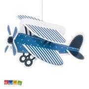 Ghirlande Aeroplano e Nuvole 3D Azzurre con Cordini Inclusi Set 4 pz - Kadosa