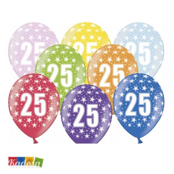 Favorito Palloncini 25 Anni Multicolor Set 6pz - Kadosa YC27