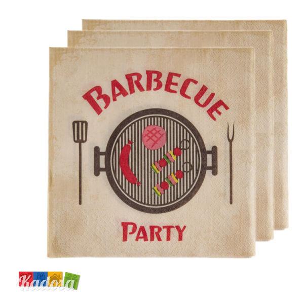 Tovaglioli BBQ Style Originali e Divertenti per Grigliate da Professionista 20 pz - Kadosa
