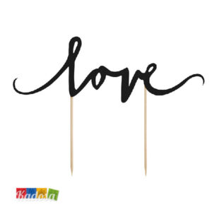 Cake Topper LOVE nero- Kadosa
