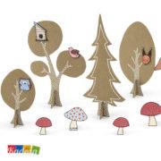 Set Foresta Creativa woodland - Kadosa