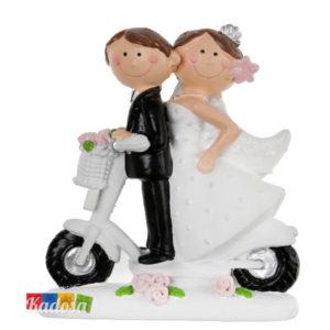 Topper Nozze Sposi in Bicicletta - Kadosa