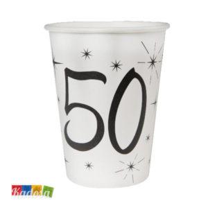 Bicchieri di Carta Party 50 Anni - Kadosa