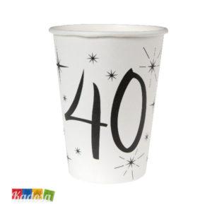 Bicchieri di carta Party 40 anni - Kadosa