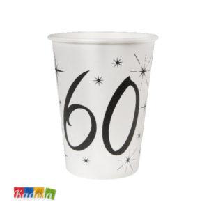 Bicchieri di carta Party 60 Anni - kadosa