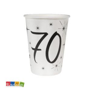 Bicchieri di carta Party 70 Anni - Kadosa