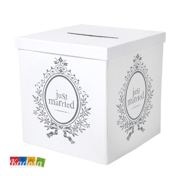 Gift Box Just Married Bianca con Stampe sui 4 Lati - Kadosa