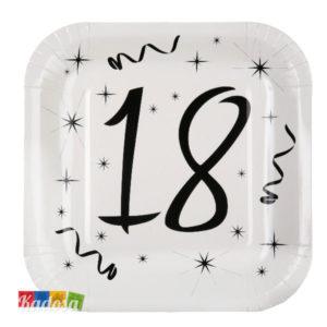 Piatti di carta Party 18 anni - Kadosa