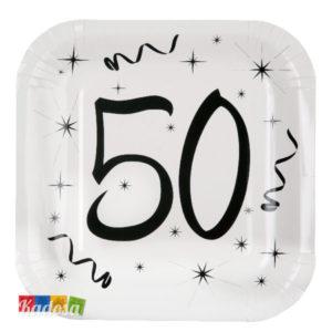 Piatti di Carta Party 50 Anni - kadosa