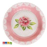 Piatti Decorazione Rose Tema Libery Romantico Set 10 pz - Kadosa