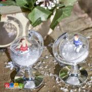 Mini Mappamondo Porta Confetti o Caramelle Matrimonio Set 2 pz - Kadosa