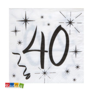 Tovaglioli Party 40 Anni - Kadosa