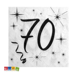 Tovaglioli Party 70 Anni - Kadosa