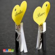 Mini Mollette Sposi Segna Posto Matrimonio Set 4 pz - Kadosa