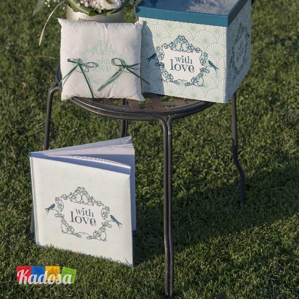 Guest Book Romantic Green con 22 Pagine Bianche - Kadosa