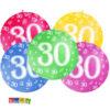 Palloncini Giganti 30 Anni da 1 Metro Set 5 pz in Colori Assortiti - Kadosa