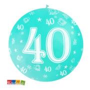 Palloncini Giganti 40 Anni da 1 Metro Set 5 pz in Colori Assortiti - Kadosa