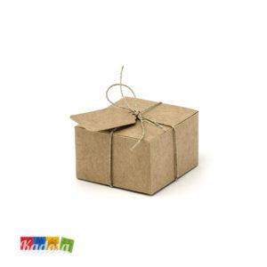 Scatole Porta Confetti Country con Spago e Pendagli Abbinati 10 pz - Kadosa