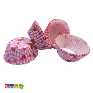 Mini Pirottini Cupcake CUORI - kadosa