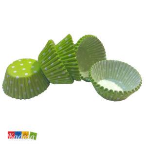 Mini Pirottini Cupcake Verdi Pois - Kadosa