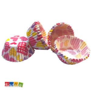 Mini Pirottini Cupcake CUORI Pois - Kadosa