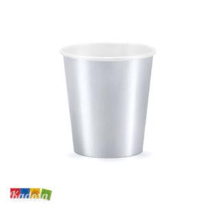 Bicchieri Argento ad Effetto Metallico da 200 ml Conf da 6 pz - Kadosa
